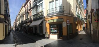 Calle Hernando Colon street panorama Royalty Free Stock Photo