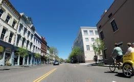 Calle histórica de la reunión, Charleston, SC Fotografía de archivo