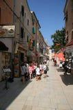 Calle histórica de Umag Imágenes de archivo libres de regalías