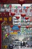 Calle Hong Kong del templo Imagenes de archivo