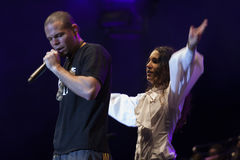 Calle 13 i konsert Royaltyfria Foton