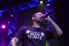 Calle 13 i konsert Royaltyfri Fotografi