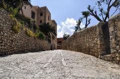 calle ibiza Mar stary Santa miasteczko Zdjęcie Royalty Free