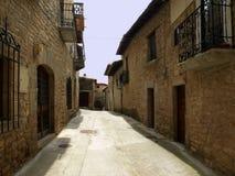 Calle II de Aibar fotografía de archivo