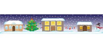 Calle inconsútil de la Navidad ilustración del vector