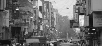 Calle india ocupada Fotografía de archivo