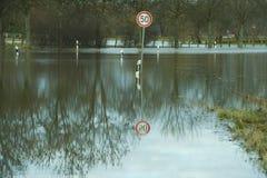 Calle inundada Imágenes de archivo libres de regalías
