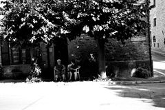 Calle Italia de Bettona Foto de archivo
