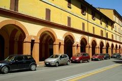 Calle italiana, Bolonia, Italia Imágenes de archivo libres de regalías
