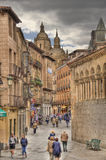 Calle Juan Bravo in Segovia, Spain Royalty Free Stock Images