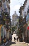 Calle lamentable de La Habana. LA HABANA - 5 de octubre de 2008. Foto de archivo libre de regalías