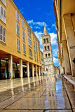 Calle larga - famous street after rain Stock Images