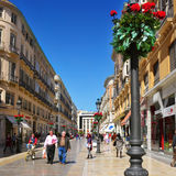 Calle Larios in Malaga, Spain Stock Photography
