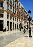 Calle Larios, Malaga, Spain. Royalty Free Stock Images
