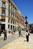 Calle Larios, Malaga, Spain. Stock Images