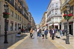 Calle Larios in Malaga, Spanje Stock Afbeeldingen