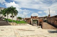 Calle Las Damas / el muro historico Stock Image