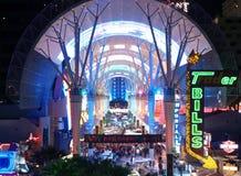 Calle Las Vegas de Fremont Imagen de archivo libre de regalías