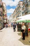 Calle Lisboa de Santo Antao Imagen de archivo libre de regalías