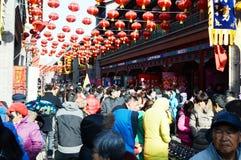 Calle lunar del Año Nuevo de China  Fotos de archivo libres de regalías