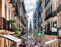 Calle Mayor Street in San Sebastian Stock Fotografie