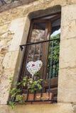 Calle medieval en Cataluña Fotos de archivo