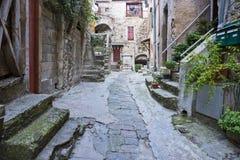 Calle medieval en Francia Imagenes de archivo