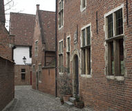 Calle medieval (Lovaina, Bélgica) Fotografía de archivo