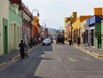 Calle mexicana en Cholula foto de archivo libre de regalías