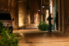 Calle misteriosa Fotos de archivo libres de regalías