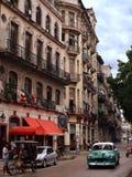 Calle Monserrate a vecchia Avana, Cuba Fotografie Stock