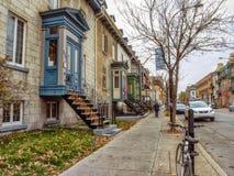 Calle Montreal de Ontario Imagen de archivo libre de regalías
