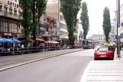 Calle Munich de Baviera de los restaurantes y de los casinos fotografía de archivo libre de regalías