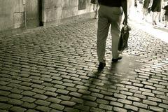 Calle muy transitada Imagenes de archivo