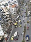 Calle muy transitada Foto de archivo