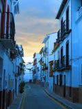 Calle Naranjos, Alora, Andalusia Immagini Stock Libere da Diritti