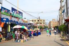 Calle Narciso de la Colina i Lima, Peru Arkivfoto