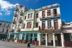Calle Neptuno from La Havana, Cuba Stock Photos