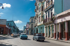 Calle Neptuno from La Havana, Cuba Royalty Free Stock Photography