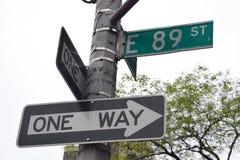 89.a calle, Nueva York Imágenes de archivo libres de regalías