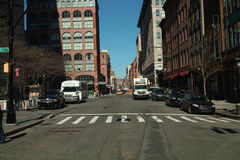Calle Nueva York de Greenwich Fotos de archivo