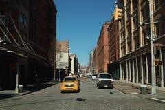 Calle Nueva York de Greenwich Imágenes de archivo libres de regalías