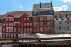Calle Nyhavn en Copenhague Fotos de archivo