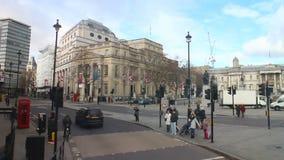 Calle ocupada de Londres almacen de metraje de vídeo