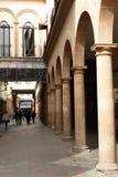 Calle Padilla i morgonen, Leon, Guanajuato royaltyfri fotografi