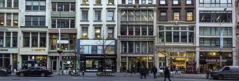 Calle panorámica de New York City Manhattan 23ro Imágenes de archivo libres de regalías