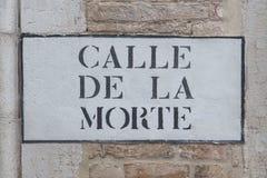 Calle para la muerte en Venecia, Italia Foto de archivo
