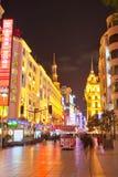 Calle peatonal 4 de Shangai Nanjing Foto de archivo libre de regalías