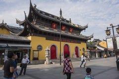 Calle peatonal comercial del templo de Nanchan foto de archivo libre de regalías