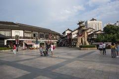 Calle peatonal comercial del templo de Nanchan fotografía de archivo libre de regalías